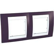Rámeček dvojnásobný, Unica Plus, garnet/polar