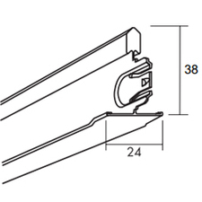 Profil vedlejší Ecophone Connect T24 24×38×1200 mm