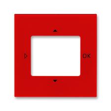 Kryt ovladače časovacího Levit, otvor pro displej, červená