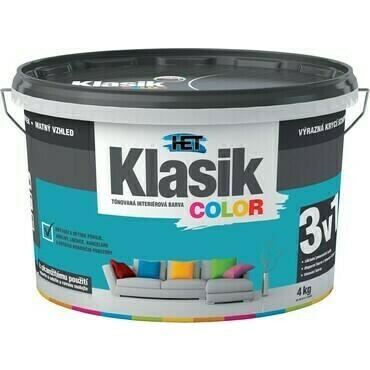 Malba interiérová HET Klasik Color zelený tyrkysový, 4 kg