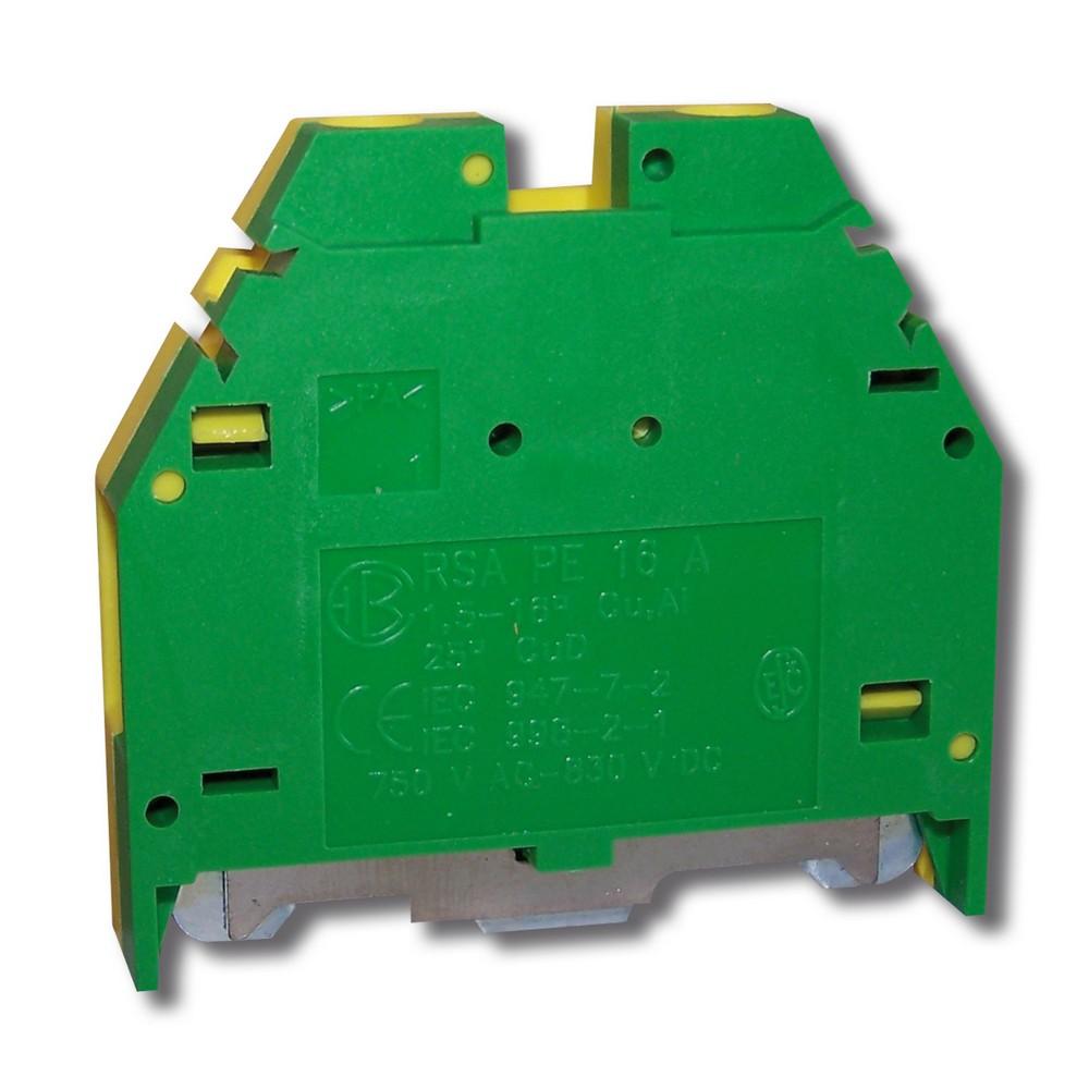 Svorka řadová RSA PE 16 A zelenožlutá, cena za ks