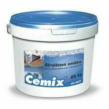 Omítka akrylátová Cemix rýhovaná 1,5 mm bezpř., 25 kg