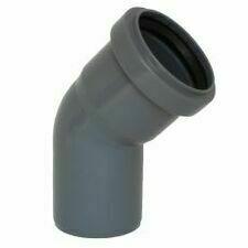 Koleno s hrdlem HTB pro odpadní potrubí, DN 75, úhel 45°