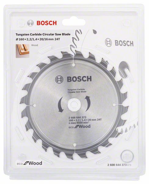 Kotouč pilový Bosch Eco for Wood 160×20×1,4 mm 24 z. 10 ks