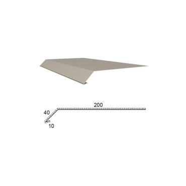 Okapnice z poplastovaného plechu Viplanyl r.š. 250 mm
