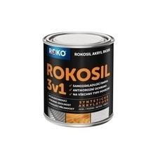 Barva samozákladující Rokosil akryl 3v1 RK 300 černá 0,6 l