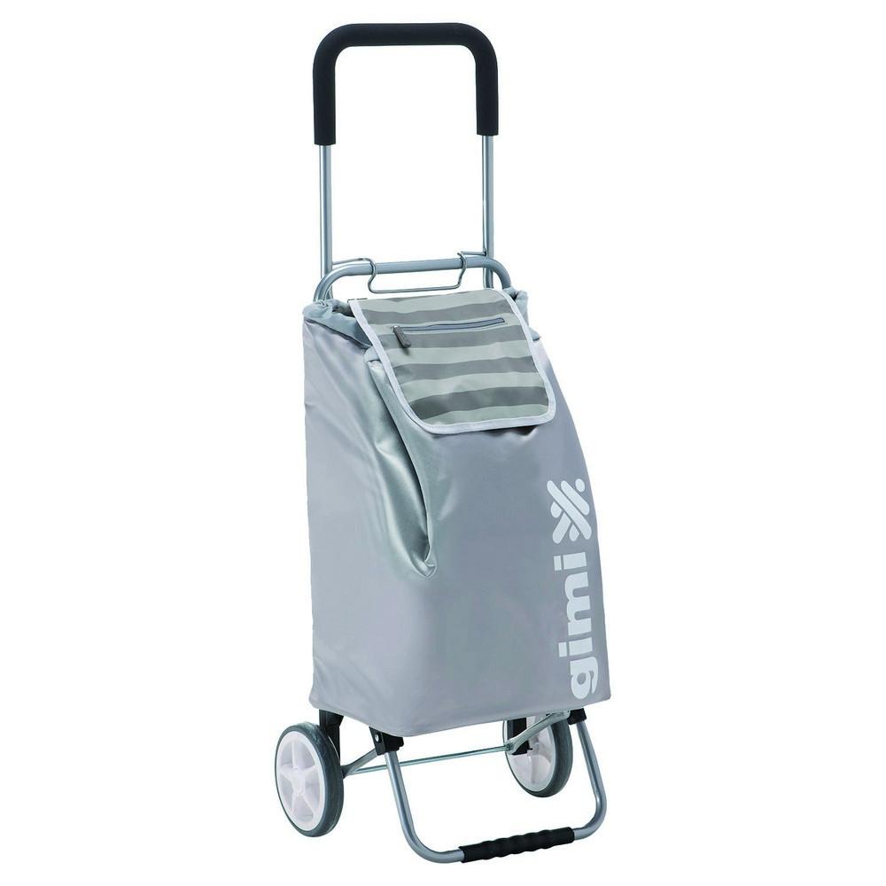Nákupní vozík GIMI Flexi šedý 45 l
