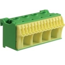 Blok bezšroubové PE svorkovnice, 18 svorek Hager KN18E