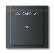 Kryt spínače kartového, s čirým průzorem, s potiskem Impuls mechová černá