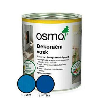 Vosk dekorační Osmo 3125 intenzivní modrý RAL 6010 0,125 l