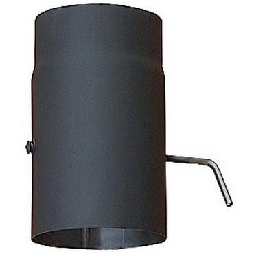 Trubka s klapkou odkouření černá DN 160/250 mm