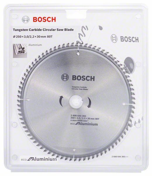Kotouč pilový Bosch Eco for Aluminium 250×30×2,2 mm 80 z.