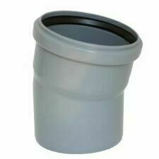 Koleno s hrdlem HTB pro odpadní potrubí, DN 100, úhel 15°