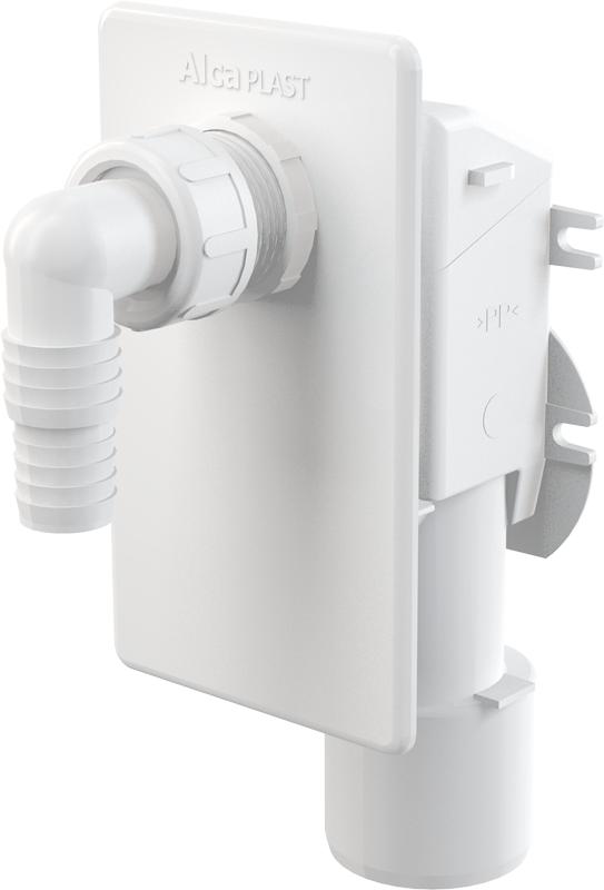 Pračkový podomítkový sifon Alcaplast APS4, bílá