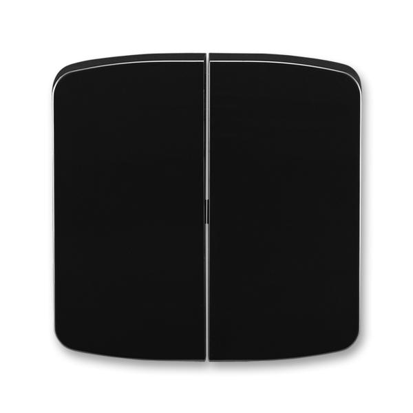 Kryt spínače kolébkového dělený Tango černá