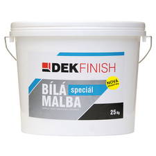 Malba interiérová DEKFINISH speciál bílá, 25 kg