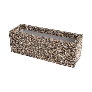 Truhlík betonový DITON Caesar vymývaný dunaj 4-8 760×380×380 mm