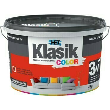 Malba interiérová HET Klasik Color červený brusinkový, 4 kg