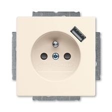 Zásuvka jednonásobná clonky, USB Future/Solo slonová kost