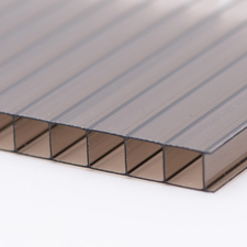 Polykarbonátová dutinková deska MULTICLEAR 10 BOX 2 tmavý bronz s UV ochranou 2100×4000 mm
