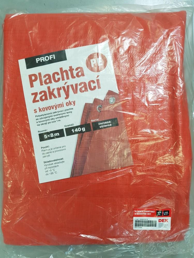 Plachta zakrývací PROFI 8×12 m, červená