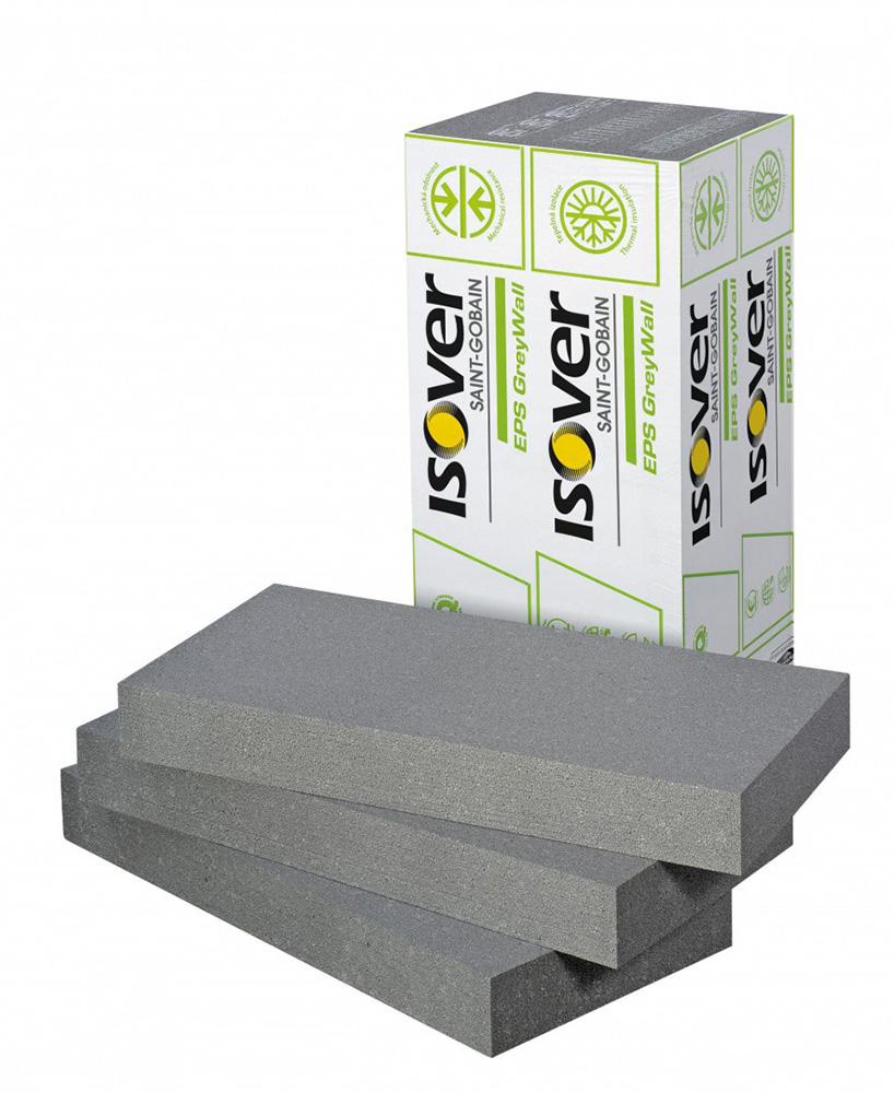 Fasádní polystyren (šedý) ISOVER GREYWALL 100 mm (1000x500 mm)