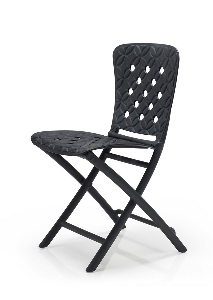 Židle ZAG SPRING skládací polypropylen fg antracite, cena za ks