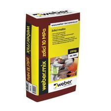 Weber.mix zdící malta pro nebroušené zdivo, pevnost v tlaku 5MPa, 25kg/bal