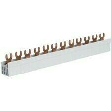 Lišta propojovací Hager, 3pól, 12 modulů, vidlička