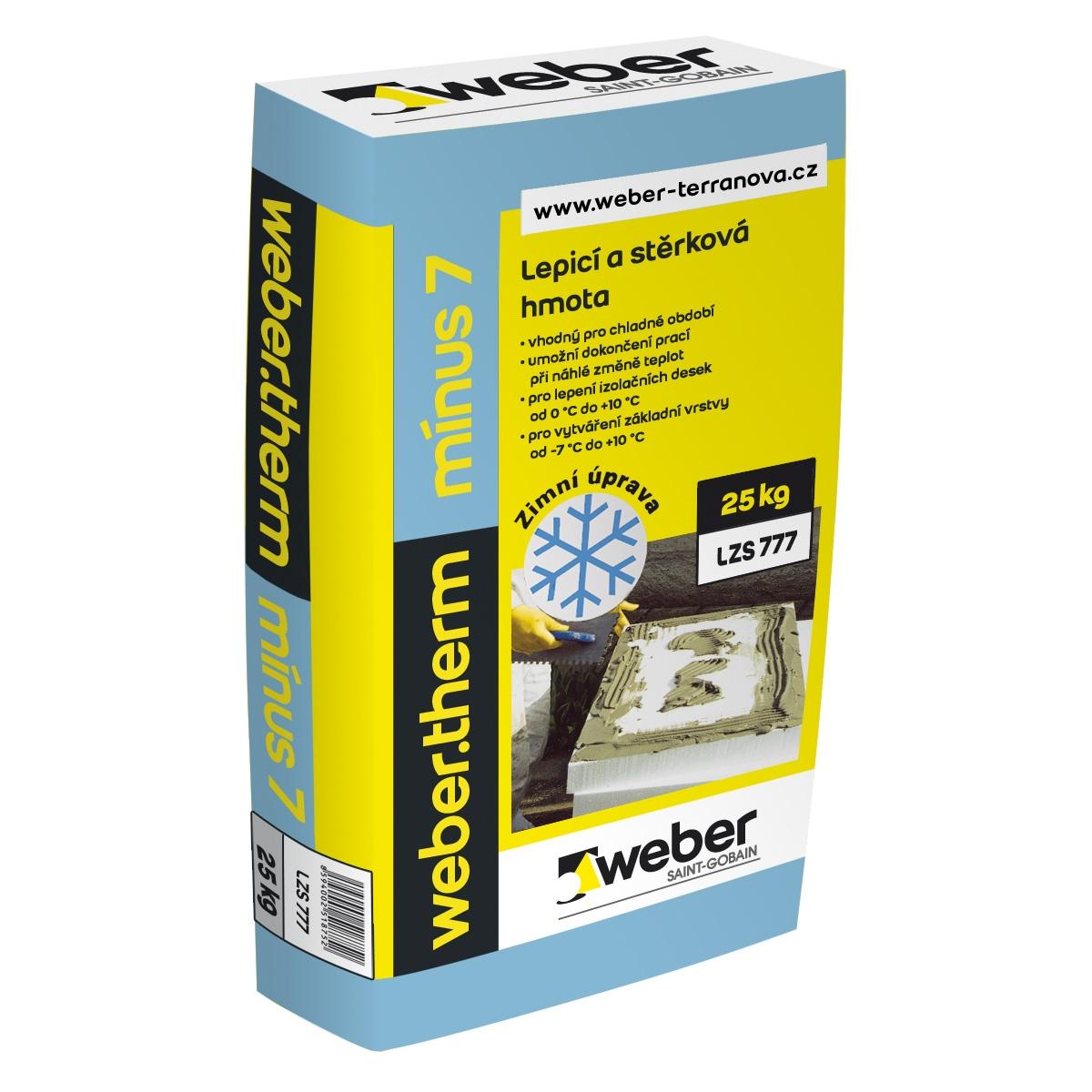 Cementová zimní lepicí s stěrková hmota Weber.therm minus 7, 25kg