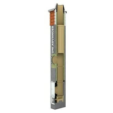 Komínová sestava Schiedel UNI Advanced DN 180 výška 6 m