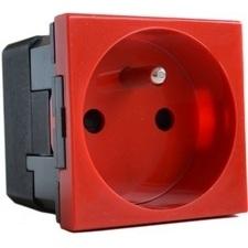 Zásuvka jednonásobná Legrand Mosaic, červená, 2 moduly