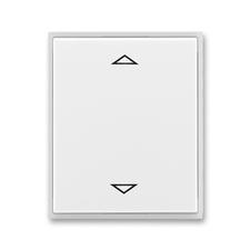 Kryt spínače žaluziového s krátkocestným ovladačem Time/Element bílá / ledová bílá