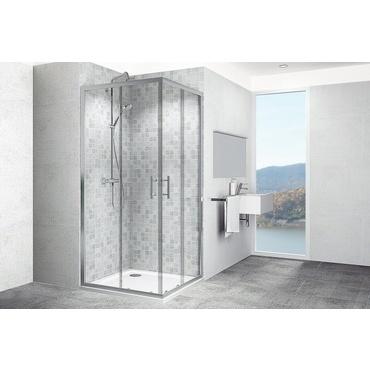 Kout sprchový čtvercový Teiko ECO SET KLRH 800 mm čiré