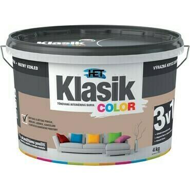 Malba interiérová HET Klasik Color hnědý ořechový, 4 kg