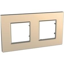 Rámeček dvojnásobný, Unica Quadro, copper