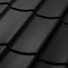 Velkoformátová profilovaná plechová střešní krytina SATJAM TREND SP25 RAL 9005 černá