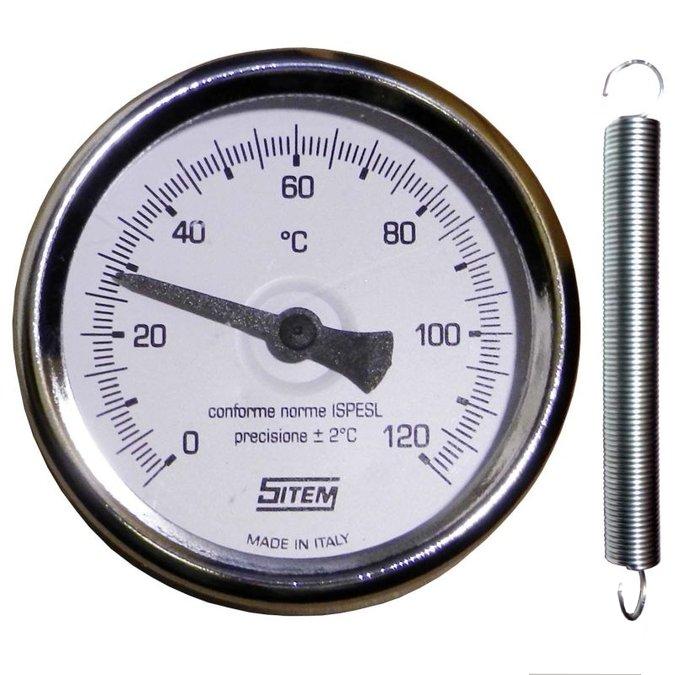 Teploměr bimetalový příložný 63 mm, 0-120°C
