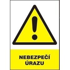 Tabule výstražná Nebezpečí úrazu A4