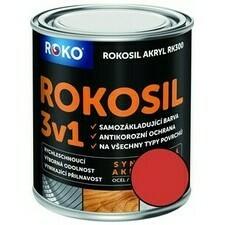 Barva samozákladující Rokosil akryl 3v1 RK 300 červ. rum.  0,6 l