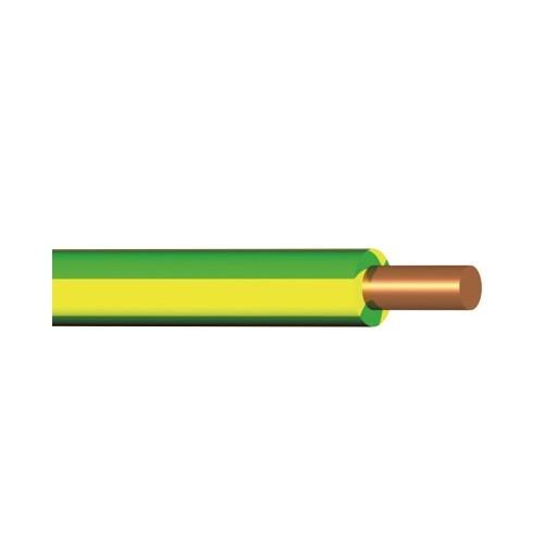 Vodič H07V-U (CY), 10 mm2, zelenožlutá