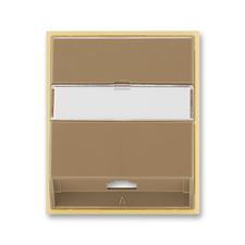 Kryt telefonní zásuvky s 1 otvorem Element kávová / ledová opálová
