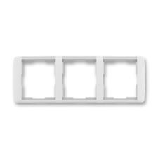 Rámeček trojnásobný vodorovný Element bílá / ledová bílá