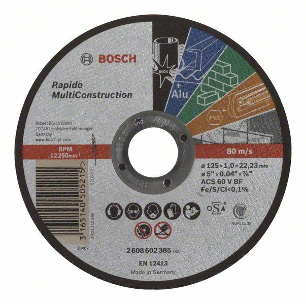 Kotouč řezný korundový Bosch Rapido Multi Construction 125×22,23×1 mm