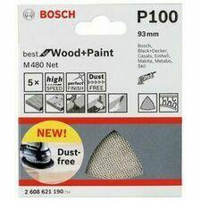 Mřížka brusná Bosch M480 Best for Wood and Paint 93×93 mm 100