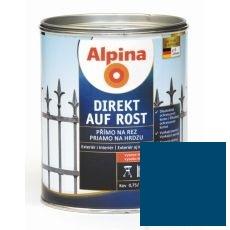 Lak na kov Alpina Direkt A Rost 2,5 l lesk modrá RAL5010