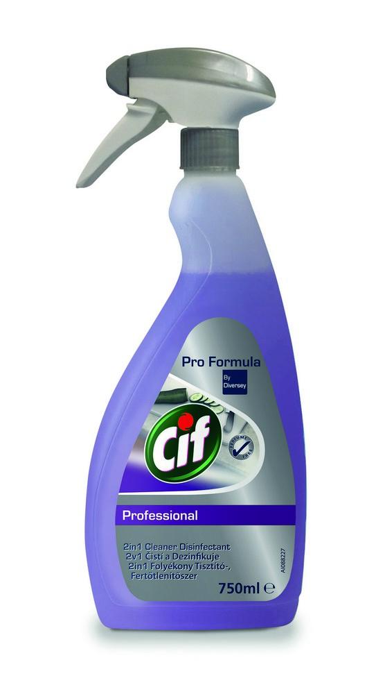 Čistící a dezinfekční sprej CIF Professional 2in1 750 ml, cena za ks