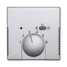 Kryt termostatu s otočným ovladačem Future linear hliníková stříbrná