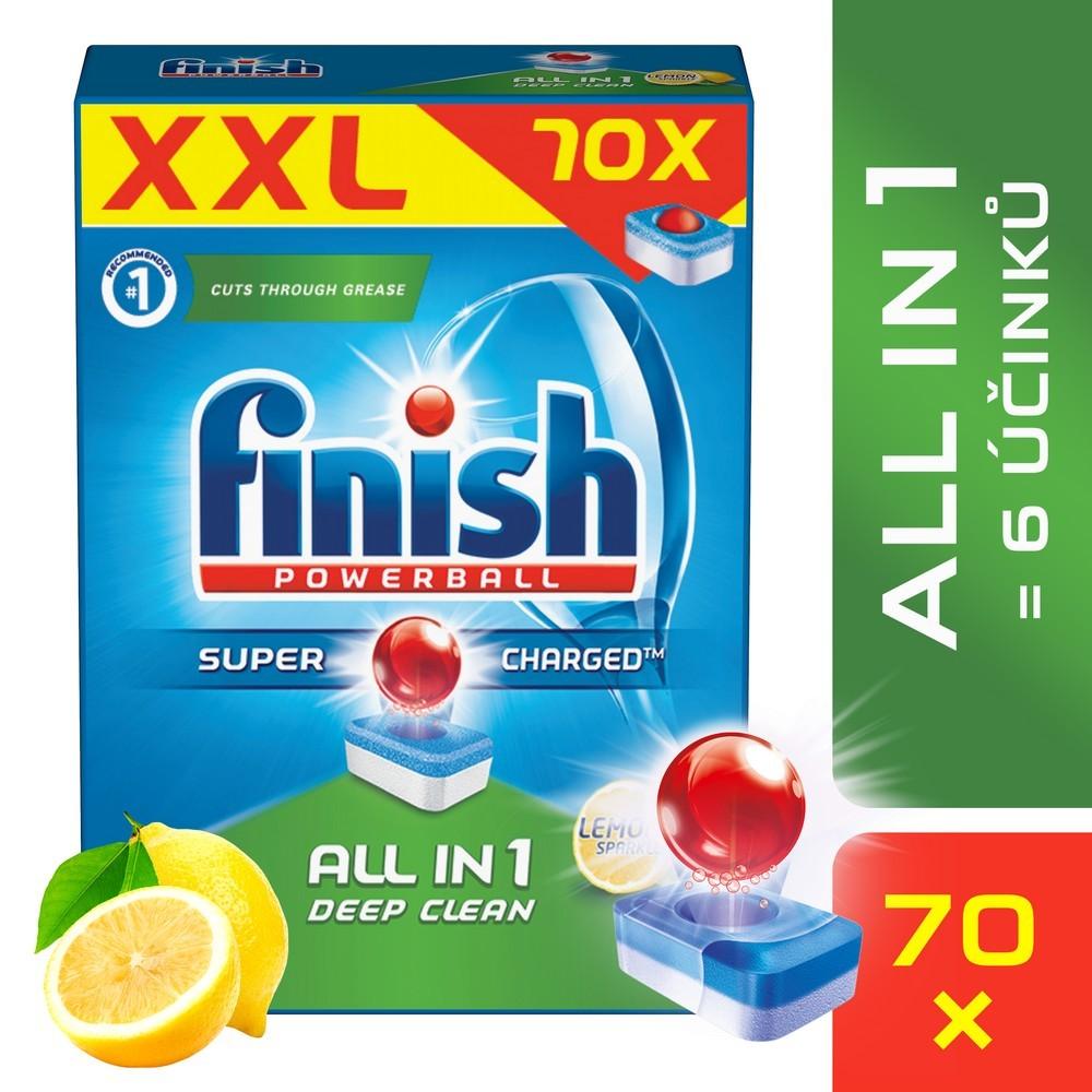 Tablety do myčky FINISH All-in-1 Lemon 70 ks, cena za ks