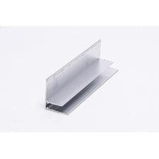 Ukončovací F hliníkový profil pro polykarbonátové desky 10mm, délka 6m
